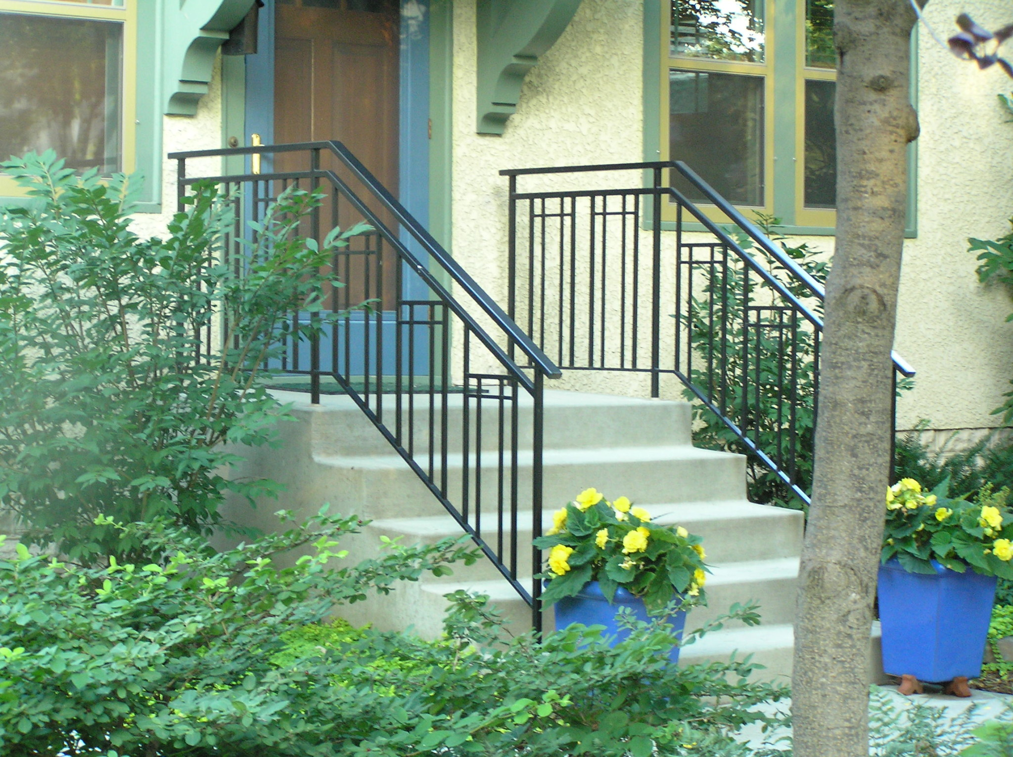 Exterior Step Railings | O'Brien Ornamental Iron