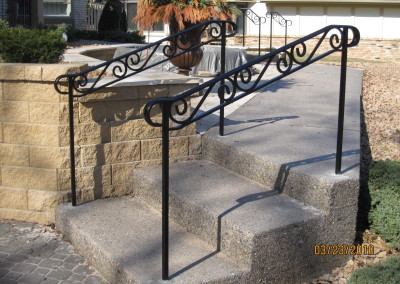 Exterior Step Railings | O\'Brien Ornamental Iron