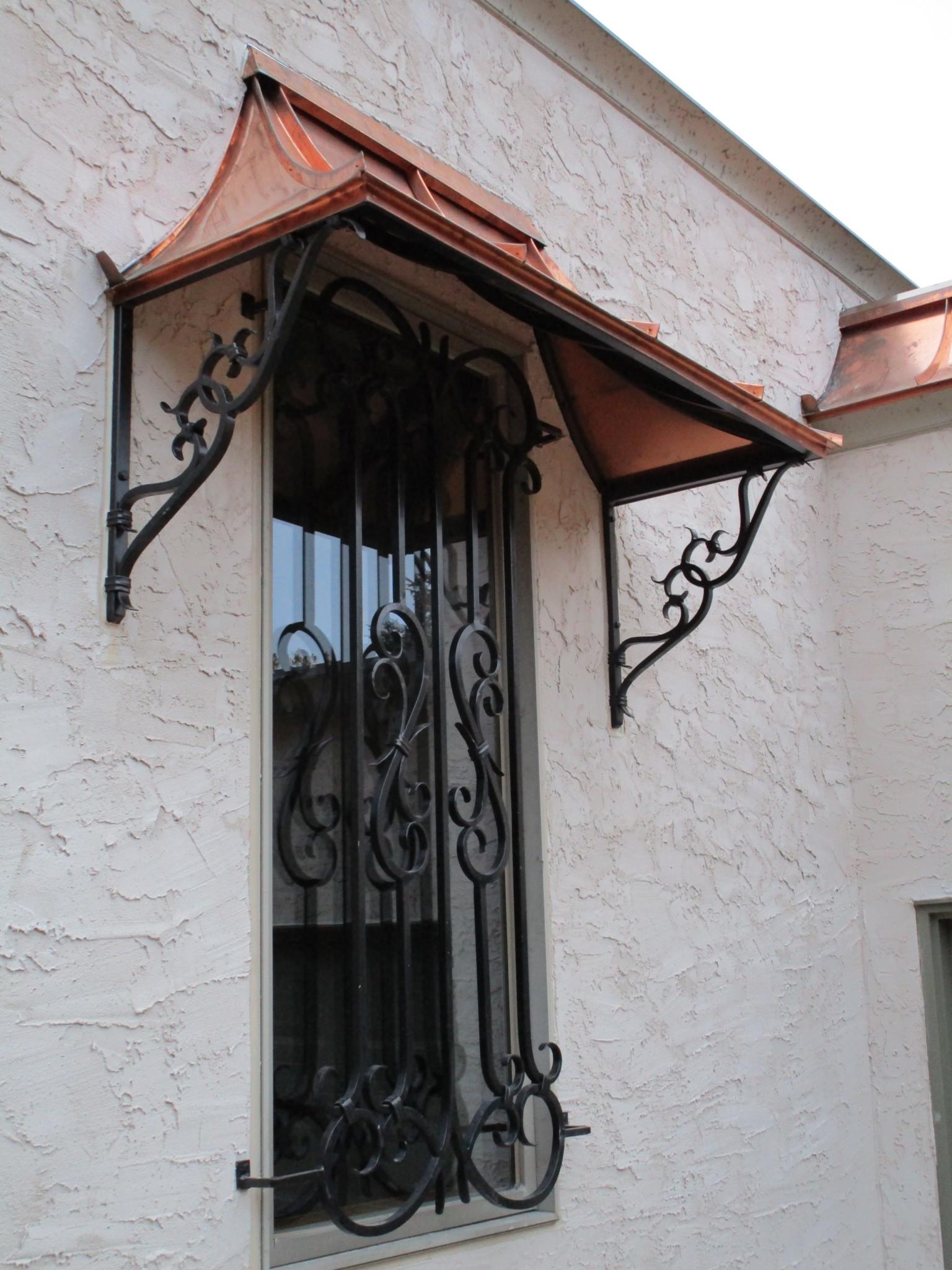 wrought iron awnings   metal awnings   O'Brien Ornamental Iron