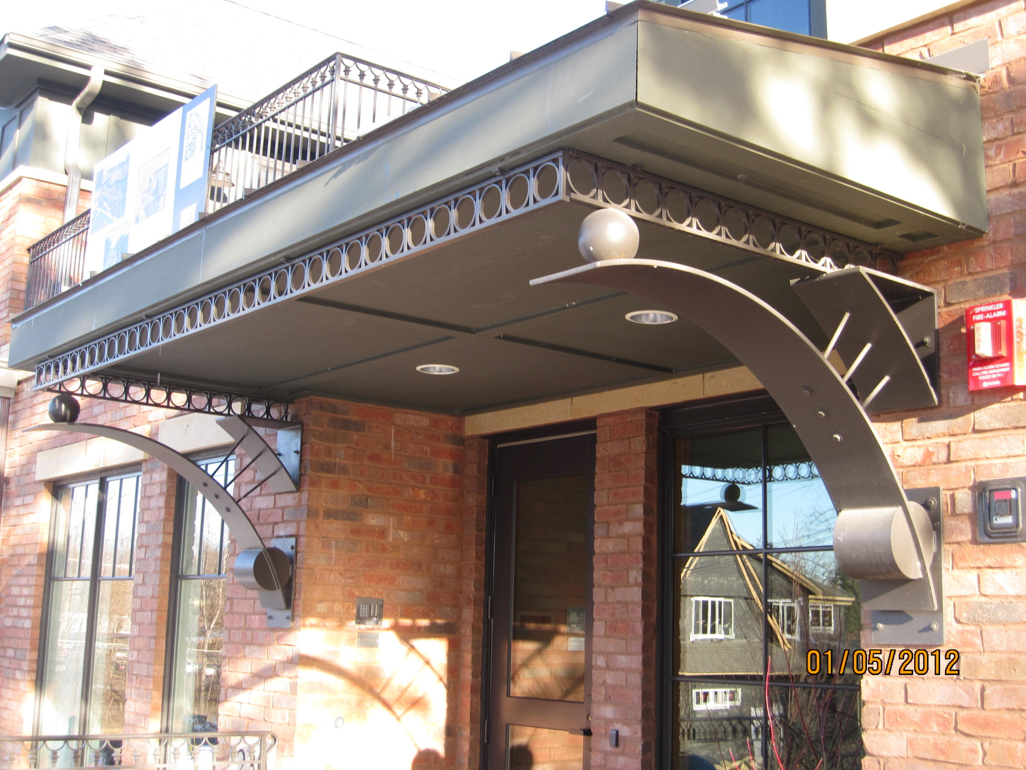 wrought iron awnings | metal awnings | O'Brien Ornamental Iron