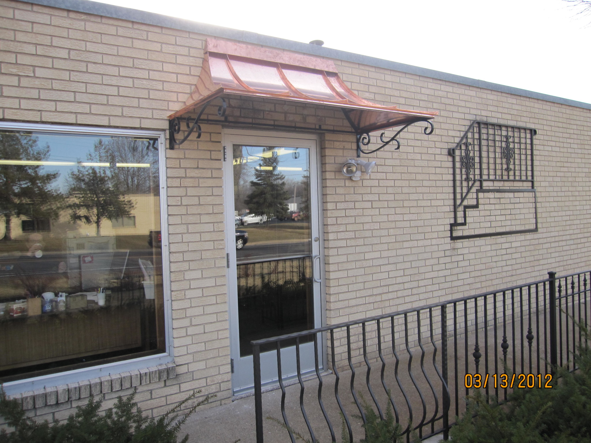 wrought iron awnings | metal awnings | O'Brien Ornamental Iron