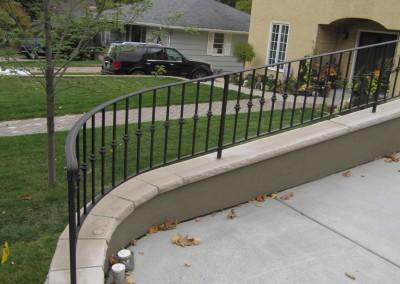 Exterior Step Railings | O\'Brien Ornamental Iron