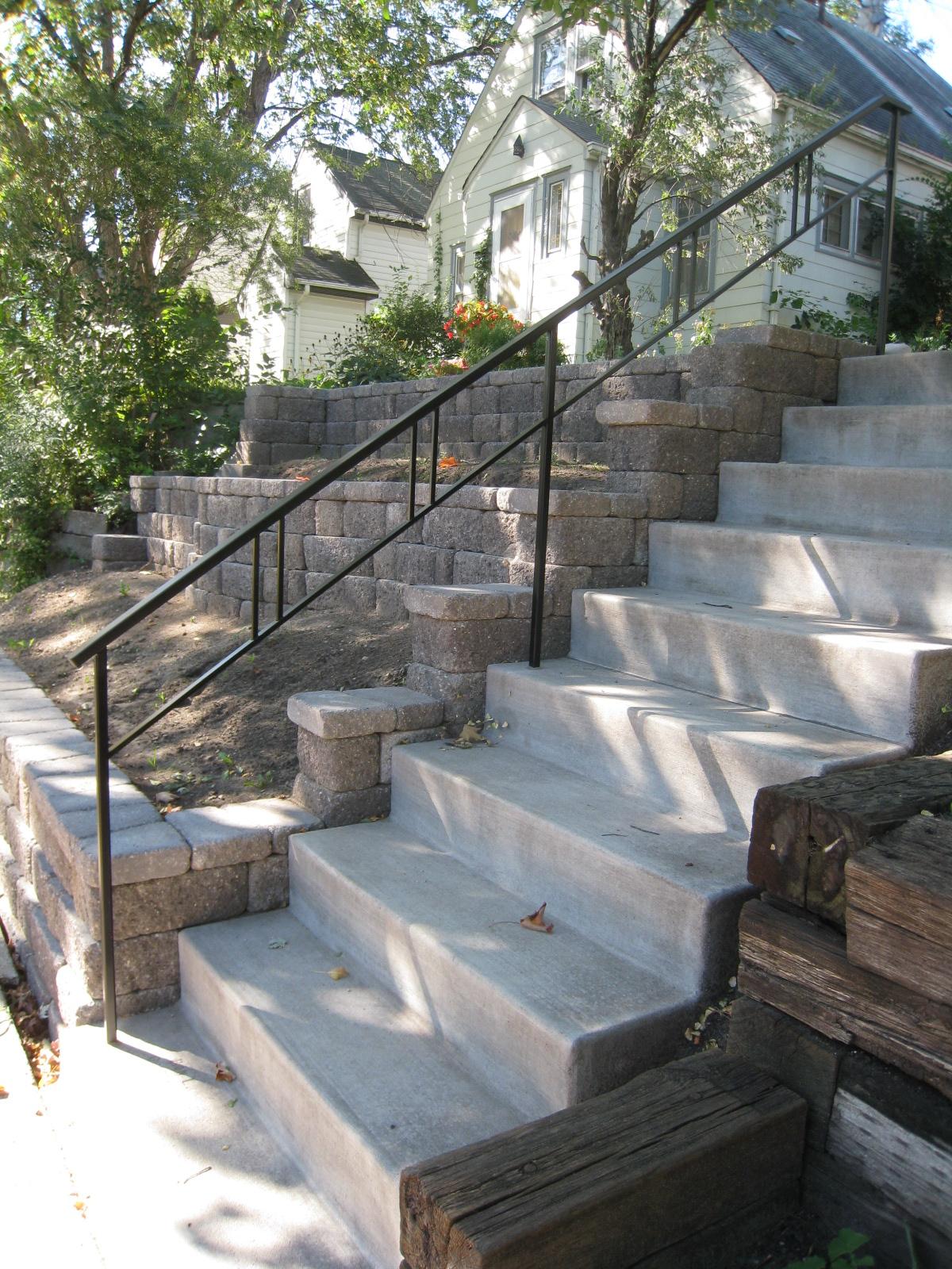 Exterior Step Railings O Brien Ornamental Iron