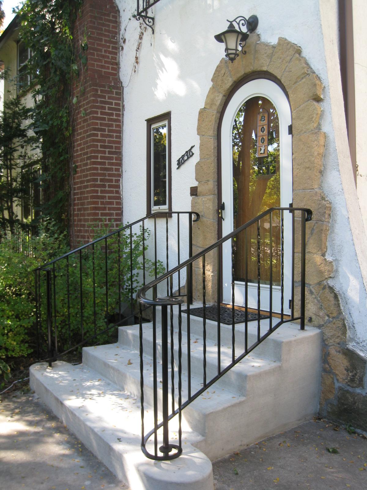 Exterior Step Railings - O'Brien Ornamental Iron